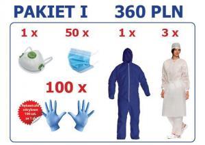 Produkty ochrony indywidualnej - Pakiet 1